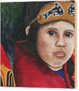 Tinglit Native Girl Wood Print