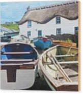 Tinker Taylor Cottage Sennen Cove Cornwall Wood Print