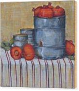 Red Pomegranates Wood Print