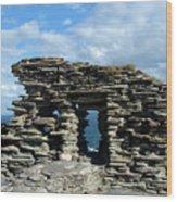 Tintagel Castle 3 Wood Print