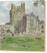 Tintern Abbey 1 Wood Print
