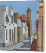 Tintin En Puerto Real Wood Print