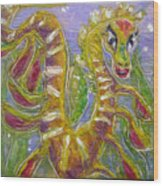 Tiny Anthropomorphic Sea Dragon 3 Wood Print