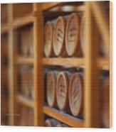 Tiny Barrels Wood Print