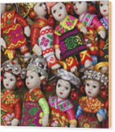 Tiny Chinese Dolls Wood Print