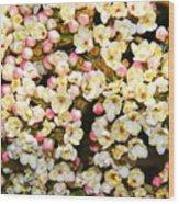 Tiny Flowers Wood Print