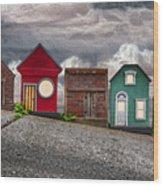 Tiny Houses On Walnut Street Wood Print