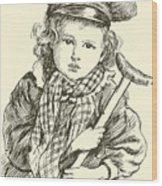 Tiny Tim Wood Print