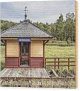 Tiny Train Station Barnet Vermont Wood Print