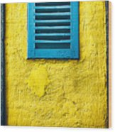 Tiny Window With Closed Shutter Wood Print