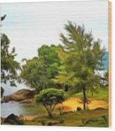 Tioman Island Beach Wood Print