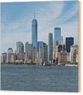 Tip Of Manhattan Wide Wood Print