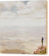 Tip Of Mt Zeehan Tasmania  Wood Print