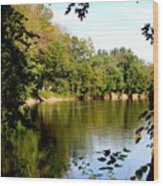 Tippecanoe River By Earl's Photography Wood Print