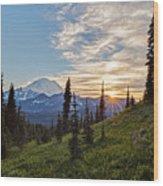 Tipsoo Field Of Summer Wood Print
