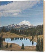 Tipsoo Lake And Rainier Wood Print