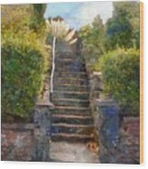 Tipsy Stairs Wood Print