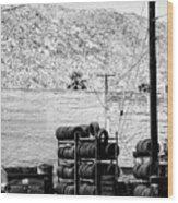 Tire Center Wood Print