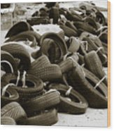 Tires Wood Print
