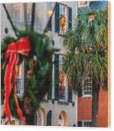 Tis The Season - Charleston Sc Wood Print