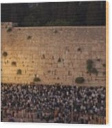 Tisha B'av At The Kotel Wood Print