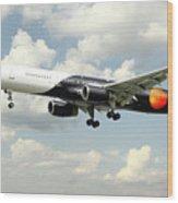 Titan Airways Boeing 757 Wood Print