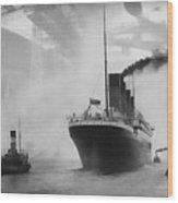Titanic Wood Print by Chris Cardwell