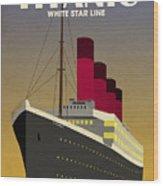 Titanic Ocean Liner Wood Print by Michael Tompsett