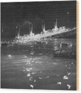 Titanic: Re-creation, 1912 Wood Print