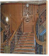 Titanics Grand Staircase Wood Print