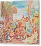 Titian Bacchanalia Color Wood Print
