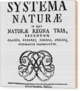 Title Page, Systema Naturae, Carl Wood Print