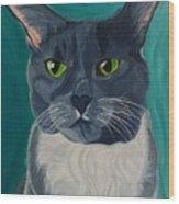 Titter, Cat Portrait Wood Print