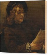 Titus Van Rijn, The Artist's Son, Reading Wood Print