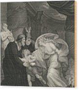 Titus's Garden. Lucius Pursued By Lavinia Wood Print