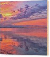 Titusville Sunset Wood Print