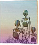 Tivoli Balloon Ride Wood Print
