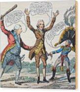 T.jefferson Cartoon, 1809 Wood Print