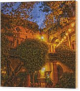 Tlaquepaque Evening Wood Print