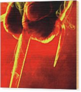 Tmnt 1   -  Raphael Smoky Red. Wood Print