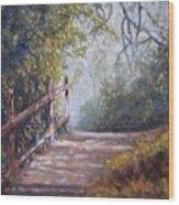 To Bog Meadow Wood Print