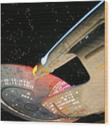 To Boldly Go Wood Print by Kristin Elmquist