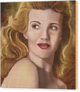 To Rita Hayworth Wood Print
