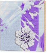 To Save A Snowflake, Portrait Orientation Wood Print
