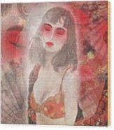 To Tell You A Geisha's Story. Wood Print