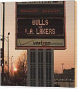 To The Bulls Game Wood Print