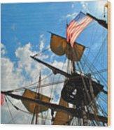 To The Maritime Sky Wood Print