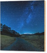 To The Milky Way Wood Print