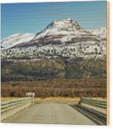 To The Mountain Wood Print