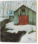 To The Sugar House Wood Print
